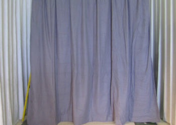 Grey Duvetyn Drape Rental
