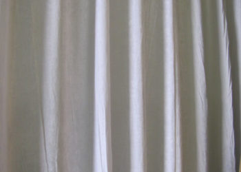 White Encore Velour Drape