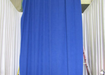 Blue Encore Velour Drape