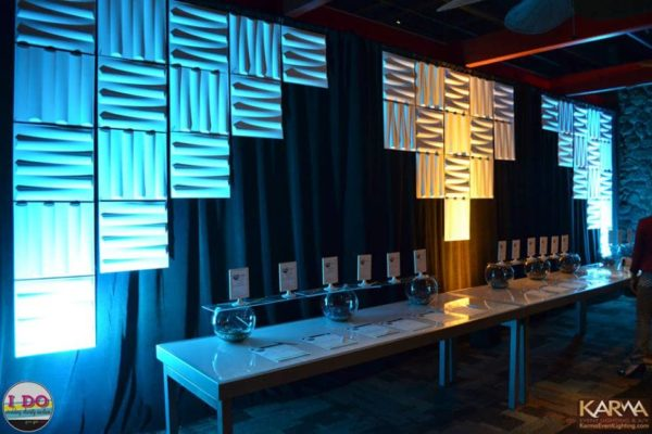 Quest-Events-Corporate-Special-Event-Information-Table-Moddim-Drape-Uplight