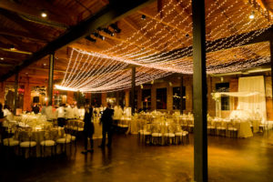 Quest-Events-Event-Drapery-Special-Event-Barn-Wedding-Reception-Scenic-Design-Decor-LED-Twinkle-String-Lights-Specialty-Drape-Ceiling-Treatment