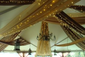 Quest-Events-Event-Drapery-Special-Event-Outdoor-Tent-Scenic-Design-Decor-Chandeliers-LED-Twinkle-String-Lights-Specialty-Drape-Ceiling-Treatment