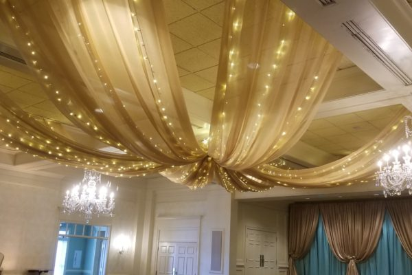 Quest-Events-Event-Drapery-Special-Events-Social-Gatherings-Birthday-Party-Scenic-Design-Decor-Specialty-Drape-Ceiling-Treatment-String Lights-Athens-Georgia-Country-Club