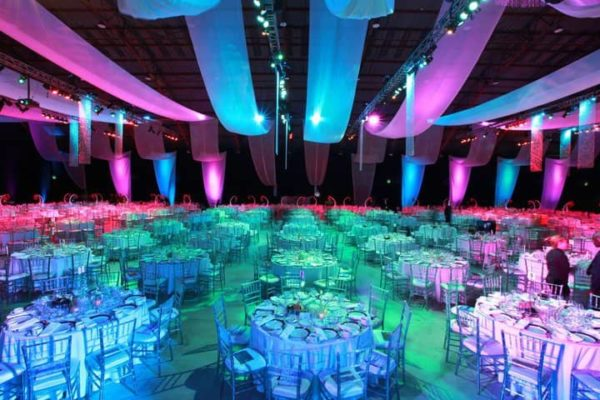 Quest-Events-Pipe-Drape-Ceiling-Treatment-Uplight-Corporate-Event-Dallas-Texas
