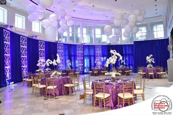 Quest-Events-Scenic-Design-Social-Event-Geo-Panels-Drape-Sphere-Uplight