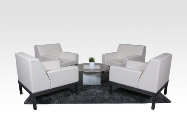 Seats: 4 Feet + Frame: Silver Add-Ons: Skirting, Underlighting & Charging Tables