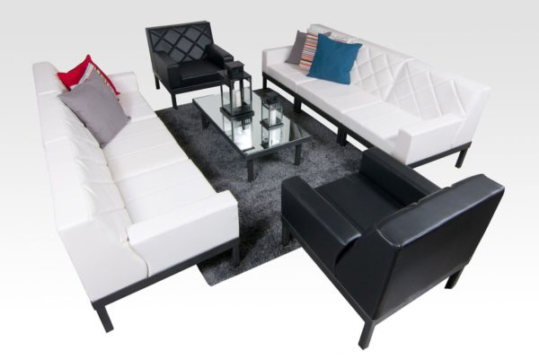Seats: 8 Feet + Frame: Silver Add-Ons: Skirting, Underlighting & Charging Tables