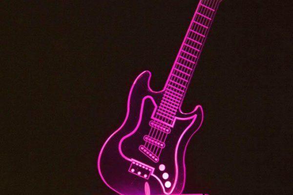 Acrylic Centerpiece - Guitar