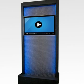 Waterwall with Video Display