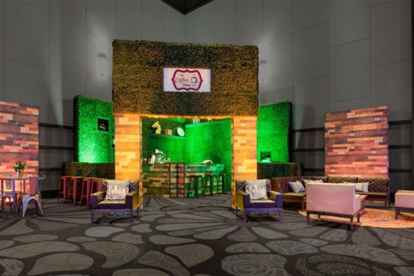 Quest-Events-Totally-Mod-Style-Tyles-Set-Stage-Scenic-Design-Corporate-Special-Events-Coffee-Shop-Columns-Walls-Hedge-Printed-Wood-min