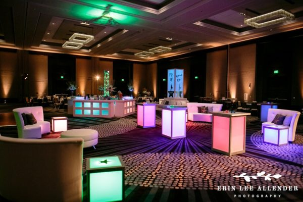 Quest-Events-Visual-Elements-Nashville-Tennessee-Special-Events-Furnishings-White-Leather-Seating-Lit-Side-Tables-Bar-Uplight-Hamilton-Theme-Party-min