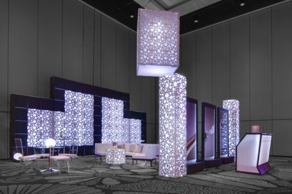 QUEST-TOTALLY-MOD-STYLE-TYLE-SCENIC-RENTAL-EVENT-HOTEL-Bubbly Lounge2 Hyatt Demo 2017-WALL-FURNISHINGS-COLUMN