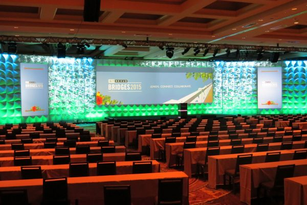 2015-Nexus-Bridges-Conference-Forum-Scenic-FormSet-Stage-Backdrop-Quest-Event-Rental-Video-Mapping