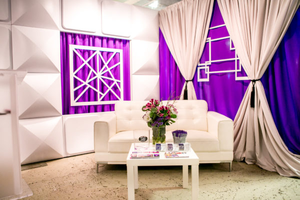 Geo-Panels-Kaos-Squares-Purple-Poly-Drape-Formset-Bizbash-Expo-LA-Quest-Events-Rental-Solutions