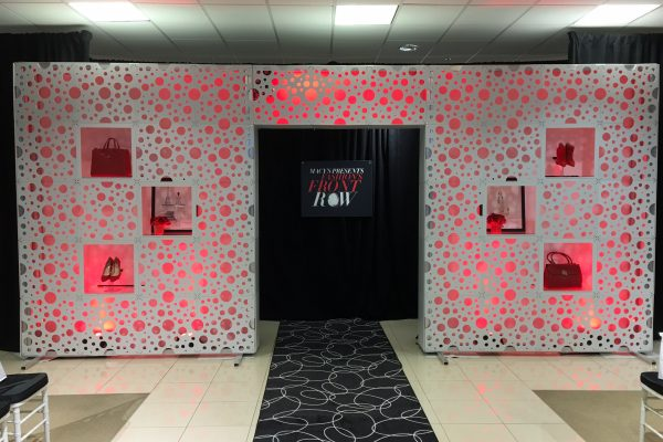Macys-Fashion-Front-Row-Style-Tyle-Entryway-Event-Rental-Totally-Mod-Quest-Events-Bubble-Pattern-Product-Feature-Scenic