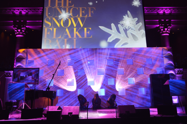 unicef-snow-flake-ball-stage-backdrop-formset-quest-event-rentals-scenic-element