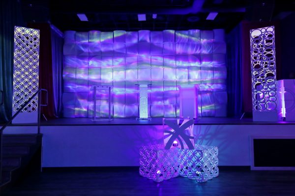 Geo-Tower-Column-Geo-Panel-Stage-Backdrop-FormSet-Event-Rental-Solution-Scenic-Quest-Events-Las-Vegas-Open-House