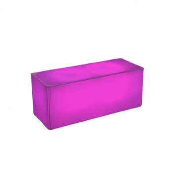 "Illum Coffee Table, Pink 40""Lx16""Dx16""H"