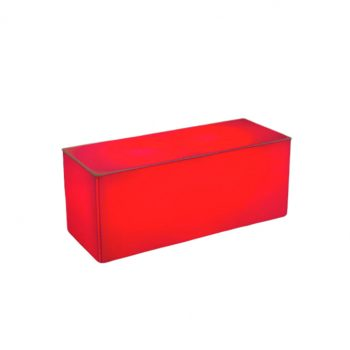 "Illum Coffee Table, Red 40""Lx16""Dx16""H"