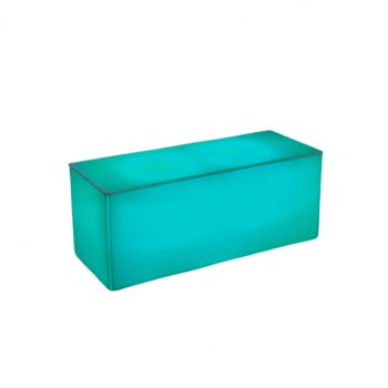 "Illum Coffee Table, Teal 40""Lx16""Dx16""H"