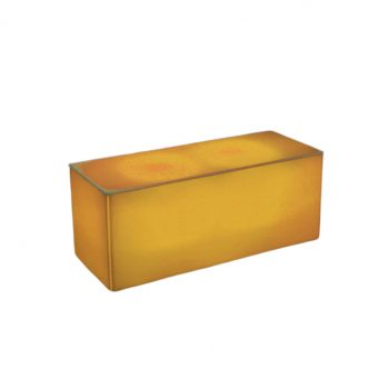 "Illum Coffee Table, Yellow 40""Lx16""Dx16""H"