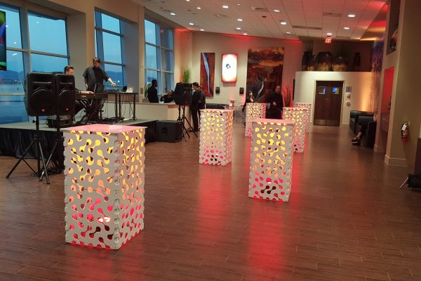 style-tyles-high-boy-tables-event-rentals-infinity-pattern-illuminated-lobby-quest-events