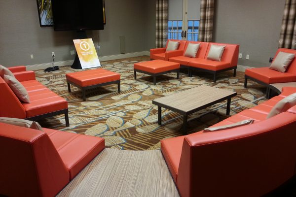 totally-mod-furnishings-2015-quest-events-red-leather-soft-seating-rentals-orlando