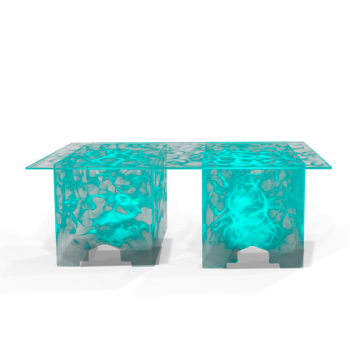 "Size: 6' x 30"" Weight: 75 LBS  Illuminated Teal"