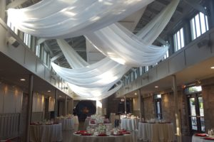 quest-events-grey-stone-ceiling-treatment-drape-white-sheer-atlanta
