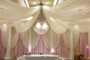 Quest-events-wedding-backdrop-ceremony-blush-white-sheer-ceiling-wall-drape-2018-June