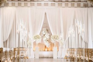White-sheer-ceremony-wedding-drape-backdrop-quest-events-rental