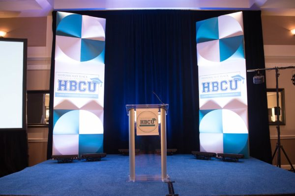 HBCU-Stage-Backdrop-Event-Freestanding-Column-Tower-Custom-FormSet-Rental-Quest-Events