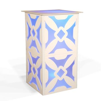 Quest-Events-Style-Tyles-High-Boy-Table-Lattice-Pattern-Rental-Totally-Mod