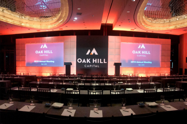 Oak-hill-capital-new-york-conference-stage-backdrop-formset-fabric-wrap-screen-surround