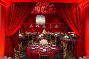 event-drapery-social-red-satin-doorway-swag-perimeter-quest-events-atlanta