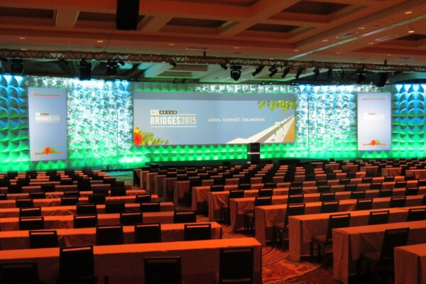 2015-Nexus-Bridges-Conference-Forum-Scenic-FormSet-Stage-Backdrop-Quest-Event-Rental-Video-Mapping-min