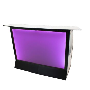 "Convert-a-BarIlluminated Purple72""L x 36""D x 51""H"
